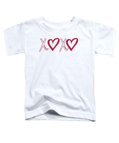 Xoxo, Hugs And Kisses, Toddler T-Shirt