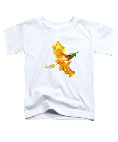 Yellow Hibiscus Toddler T-Shirt