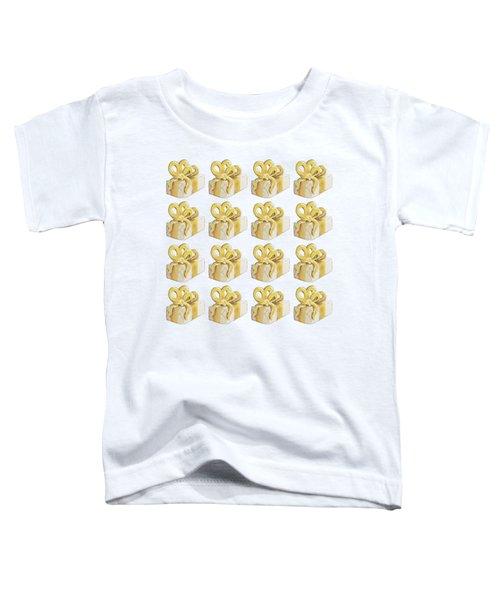Yellow Presents Pattern Toddler T-Shirt