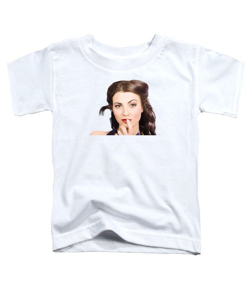 Young Model With Bright Make-up And Clean Nails Toddler T-Shirt