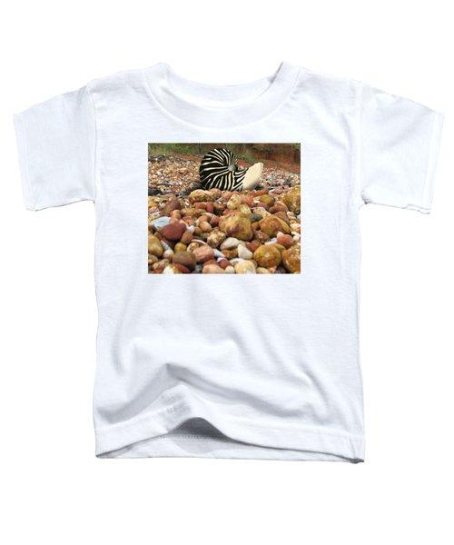 Zebra Nautilus Shell On Bauxite Beach Toddler T-Shirt
