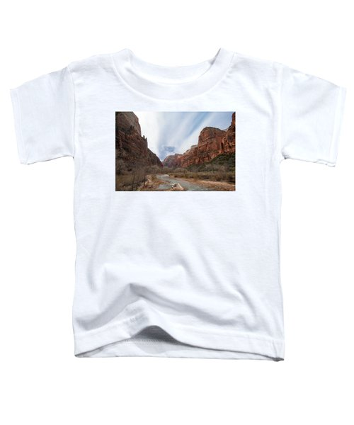 Zion National Park And Virgin River Toddler T-Shirt
