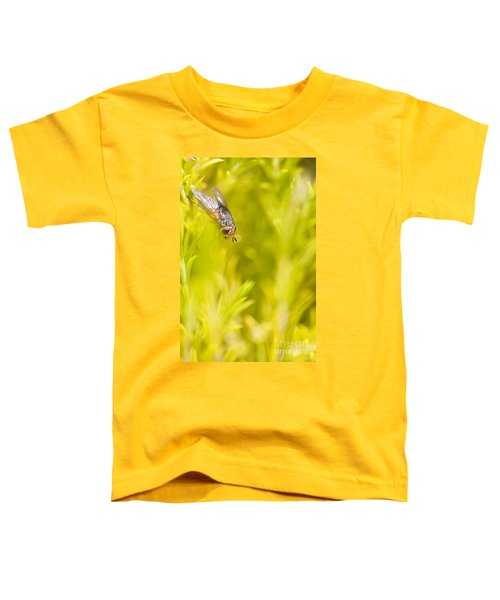 Fly Insect In Amongst A Flurry Of Yellow Leaves Toddler T-Shirt