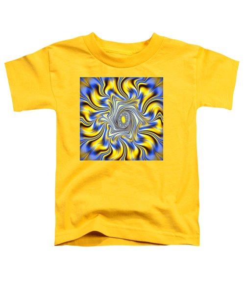 Abstract Spun Flower Toddler T-Shirt
