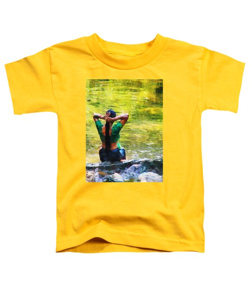 After The River Bathing. Indian Woman. Impressionism Toddler T-Shirt