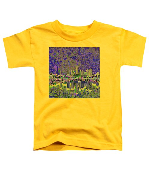 Austin Texas Skyline Toddler T-Shirt by Bekim Art