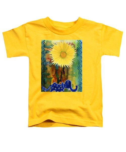 Blue Elephant In The Rainforest Toddler T-Shirt