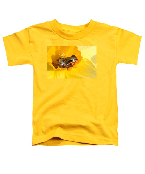 Frog And Daffodil Toddler T-Shirt