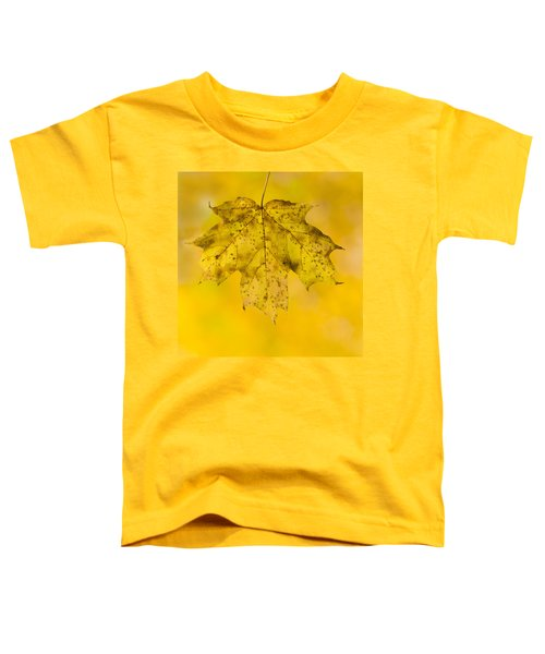 Toddler T-Shirt featuring the photograph Golden Maple Leaf by Sebastian Musial