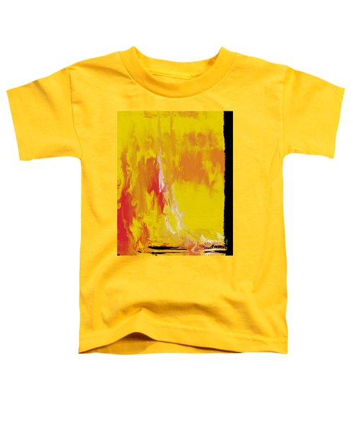 Lemon Yellow Sun Toddler T-Shirt by Roz Abellera Art