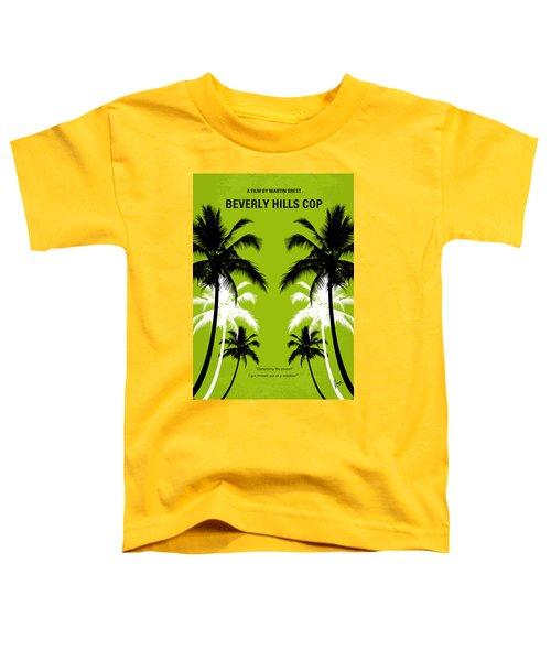 No294 My Beverly Hills Cop Minimal Movie Poster Toddler T-Shirt by Chungkong Art