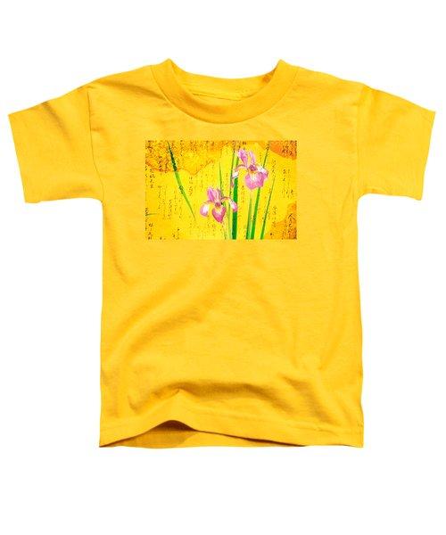 Oriental Batik Style Purple Bearded Toddler T-Shirt