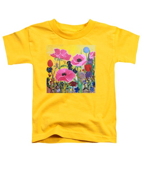 Poppies And Time Traveler Toddler T-Shirt