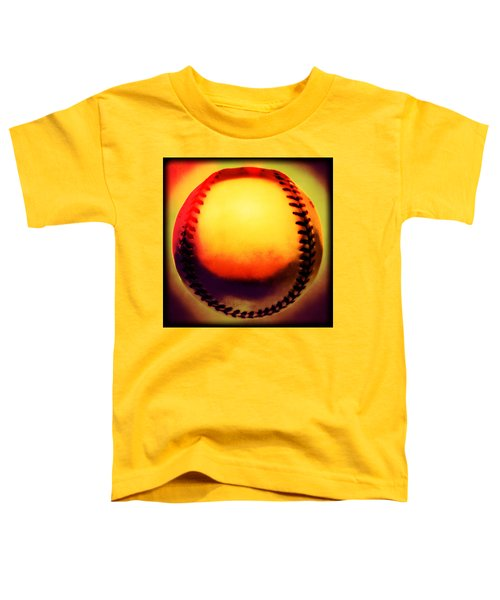 Red Hot Baseball Toddler T-Shirt by Yo Pedro