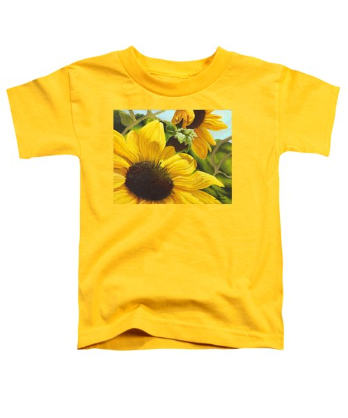 Silver Leaf Sunflowers Toddler T-Shirt