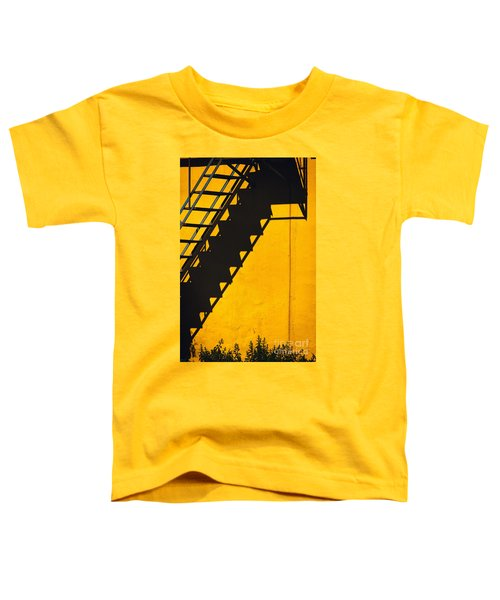 Toddler T-Shirt featuring the photograph Staircase Shadow by Silvia Ganora