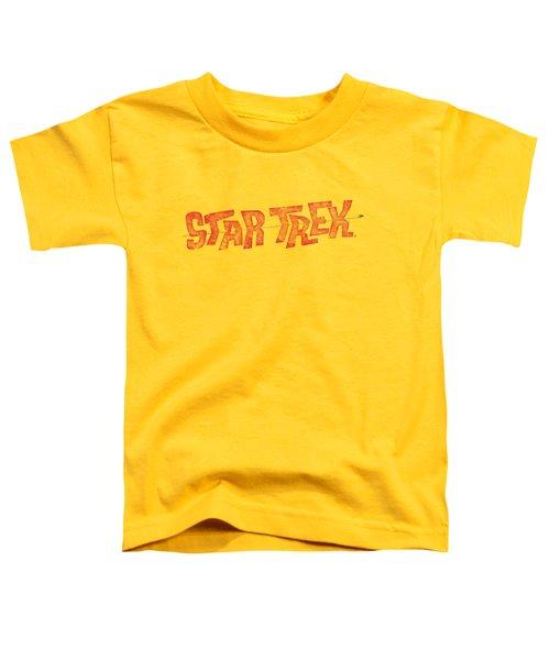 Star Trek - Distressed Comic Logo Toddler T-Shirt