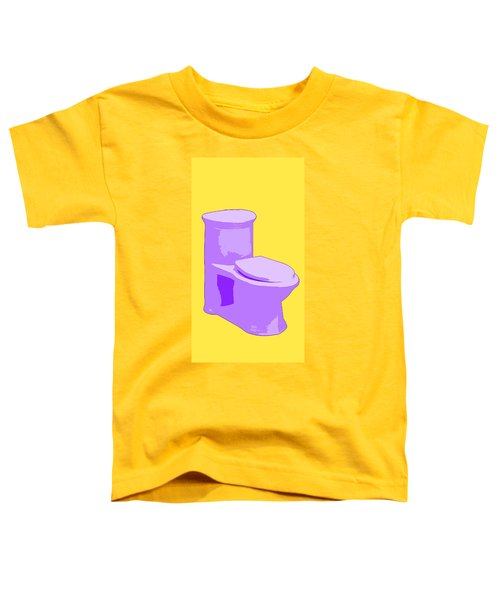 Toilette In Purple Toddler T-Shirt