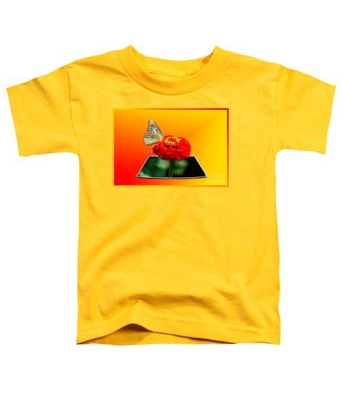 Yellow Butterfly Toddler T-Shirt