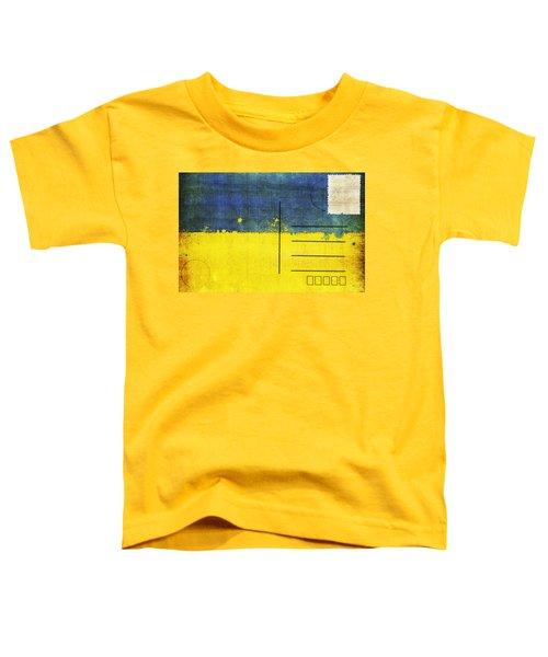 Ukraine Flag Postcard Toddler T-Shirt