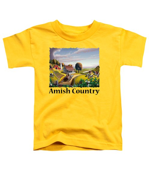 Amish Country T Shirt - Appalachian Blackberry Patch Country Farm Landscape Toddler T-Shirt