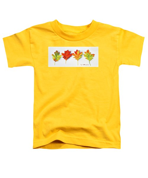 Four Autumn Leaves Toddler T-Shirt
