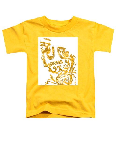 Lebron James Cleveland Cavaliers Pixel Art 7 Toddler T-Shirt