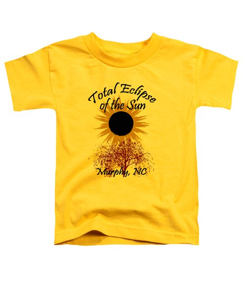 Toddler T-Shirt featuring the digital art Total Eclipse T-shirt Art Murphy Nc by Debra and Dave Vanderlaan