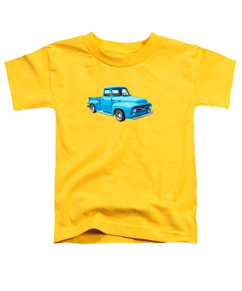 1955 Ford F100 Blue Pickup Truck Canvas Toddler T-Shirt by Keith Webber Jr