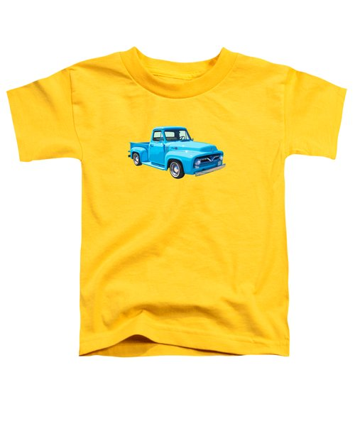 1955 Ford F100 Blue Pickup Truck Canvas Toddler T-Shirt