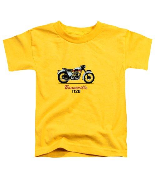 1959 T120 Bonneville Toddler T-Shirt by Mark Rogan