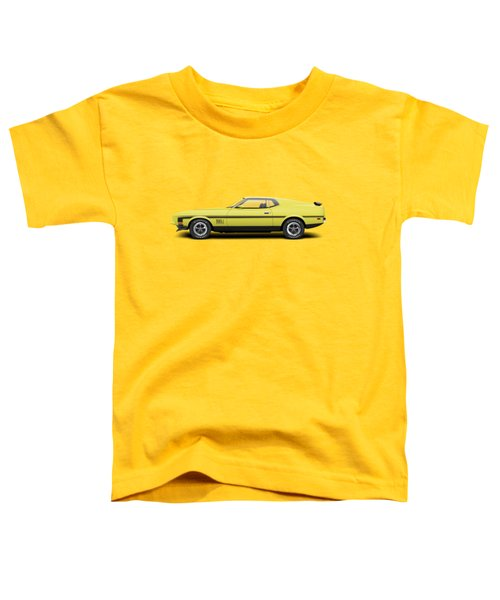 1971 Ford Mustang 351 Mach 1 - Grabber Yellow Toddler T-Shirt