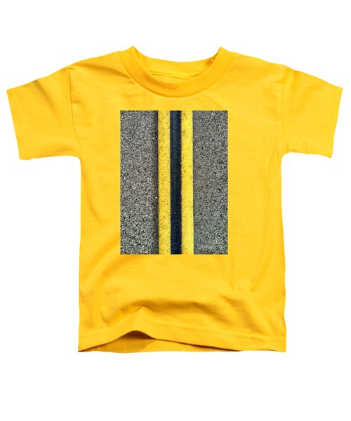 Double Yellow Road Lines Toddler T-Shirt