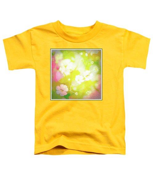 Summer Flowers, Baby's Breath, Digital Art Toddler T-Shirt