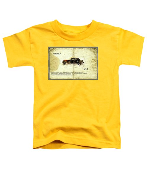 Retro Car In Sketch Style Toddler T-Shirt