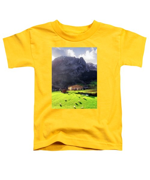A Typical Basque Country Farmhouse With Sheep Toddler T-Shirt