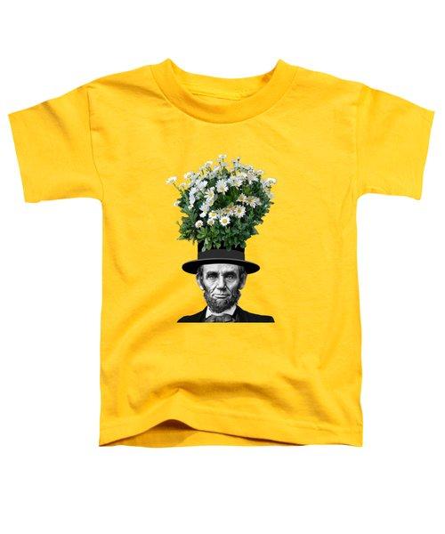 Abraham Lincoln Presidential Daisies Toddler T-Shirt by Garaga Designs