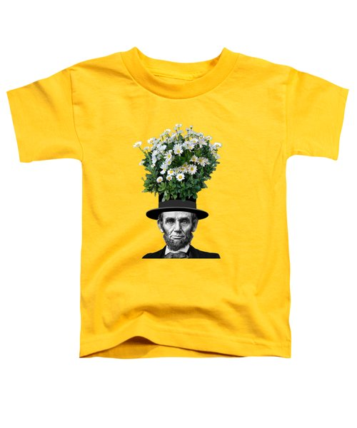 Abraham Lincoln Presidential Daisies Toddler T-Shirt