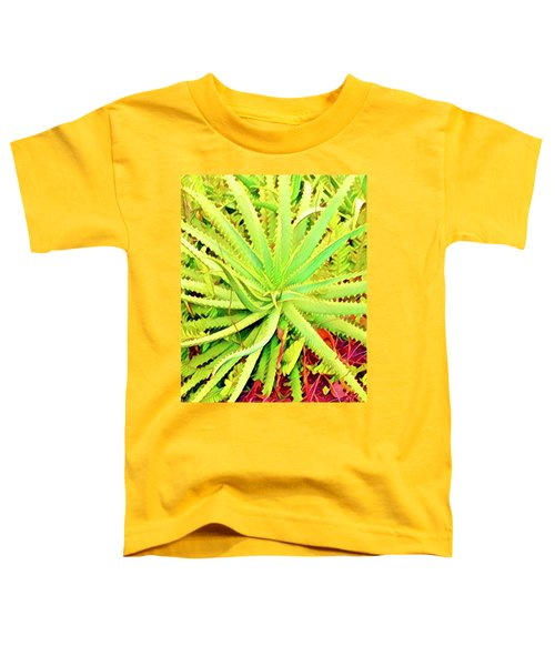 Aloha Aloe In Puna In Lime Toddler T-Shirt