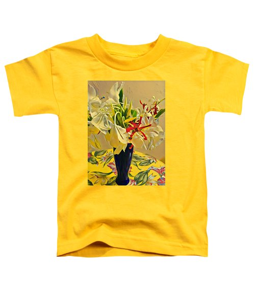 Aloha Bouquet Of The Day - White Gingert With Red Orchids - A New Hue Toddler T-Shirt