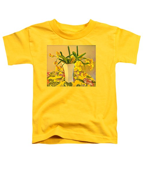 Aloha Bouquet Of The Day - Yellow Wild Flowers Toddler T-Shirt