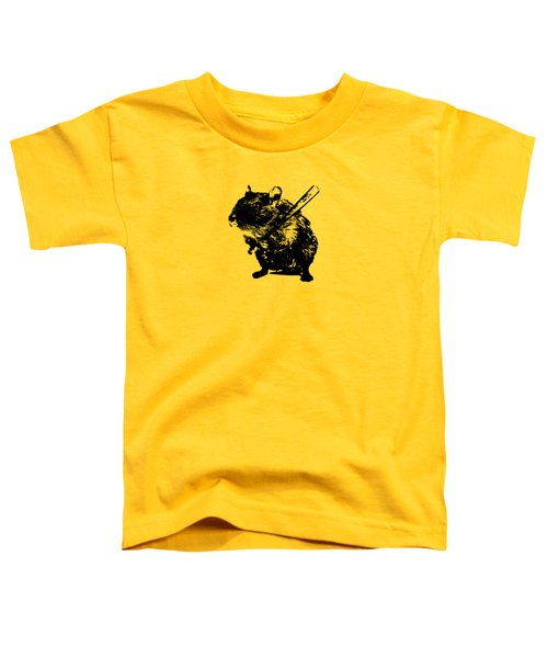 Angry Street Art Mouse  Hamster Baseball Edit  Toddler T-Shirt by Philipp Rietz