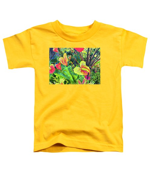 Anthuriums Yellow And Red Toddler T-Shirt