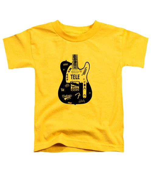 Fender Telecaster 64 Toddler T-Shirt by Mark Rogan