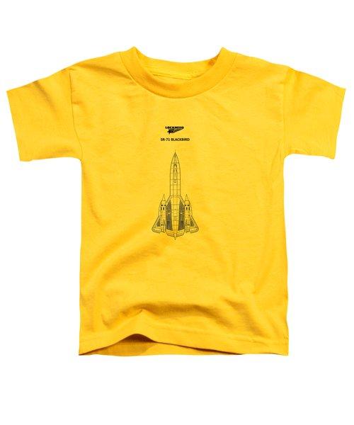 Sr-71 Blackbird Toddler T-Shirt by Mark Rogan