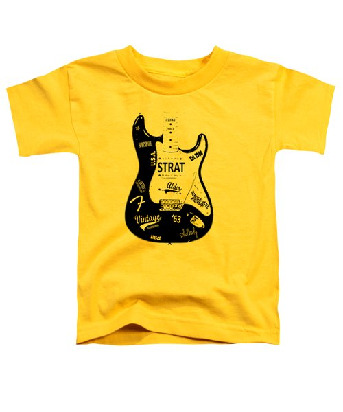 Fender Stratocaster 63 Toddler T-Shirt by Mark Rogan