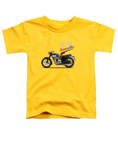 Triumph Bonneville T120 1968 Toddler T-Shirt by Mark Rogan