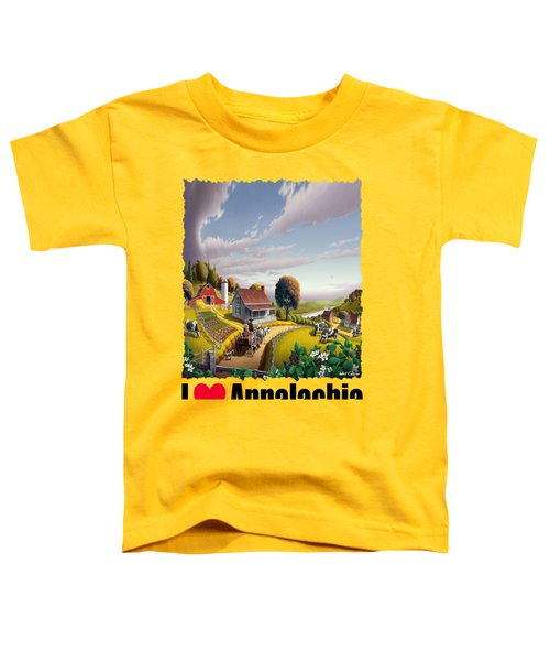 I Love Appalachia - Appalachian Blackberry Patch 1 Toddler T-Shirt