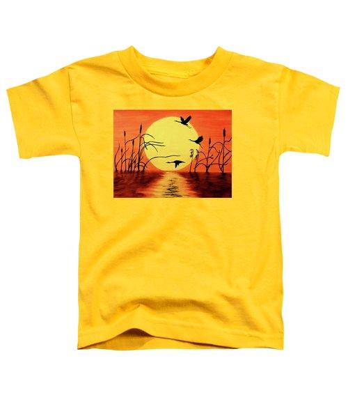 Sunset Geese Toddler T-Shirt