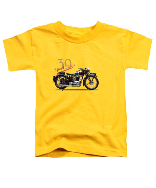 Speed Twin 1939 Toddler T-Shirt by Mark Rogan
